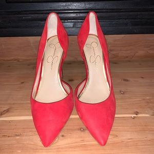 Sexy red Jessica Simpson pumps
